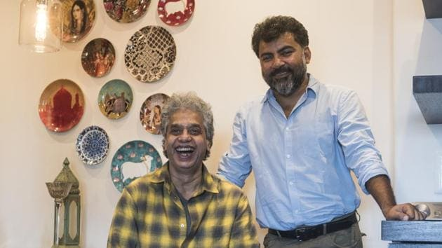 Fazal Qureshi (left) along with actor-storyteller Danish Husain will present a musical tribute on April 29.(Aalok Soni/HT Photo)