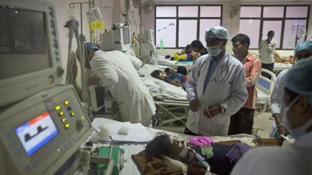 Over 30 children had died at the Baba Raghav Das Medical College on August 10-11, 2017 allegedly due to the disruption in oxygen supply.(AP File Photo)
