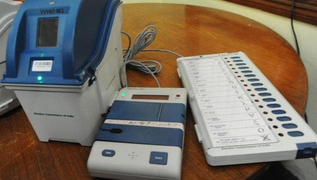 The EC plans to use the third-generation machines widely in the 2019 Lok Sabha elections.(HT Photo)