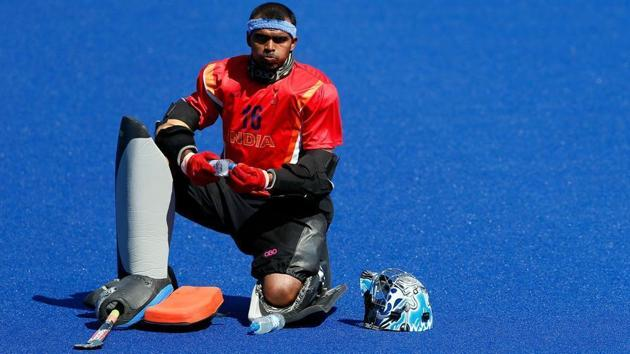 Indian men's hockey team skipper PR Sreejesh (in pic) and women's skipper Rani will lead the sides till the end of the year, said Hockey India (HI).(HT Photo)