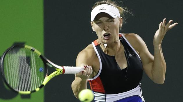 Caroline Wozniacki was forced to retire during her Istanbul Open match due to injury.(USA TODAY Sports)