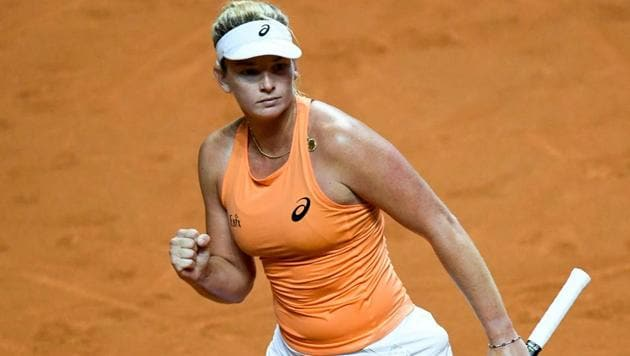 CoCo Vandeweghe knocked another big name out of the Stuttgart Open on Friday, as she stunned top seed Simona Halep 6-4, 6-1.(AFP)
