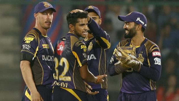 Kolkata Night Riders' Shivam Mavi and Avesh Khan were reprimanded in the IPL 2018 game vs Delhi Daredevils on Friday.(AP)