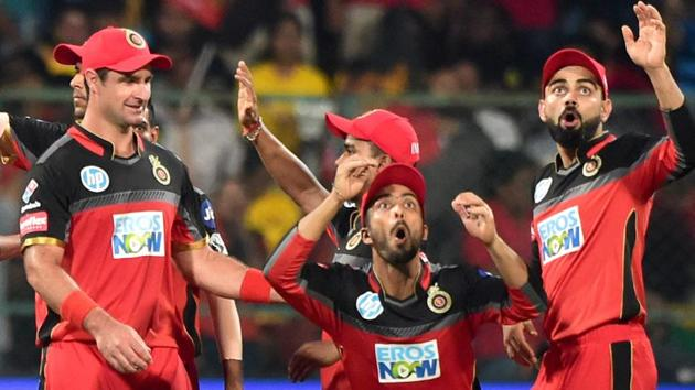 Royal Challengers Bangalore (RCB) aim to bounce back when they take on Kolkata Knight Riders (KKR) in the Indian Premier Leagu (IPL) on Saturday.(PTI)