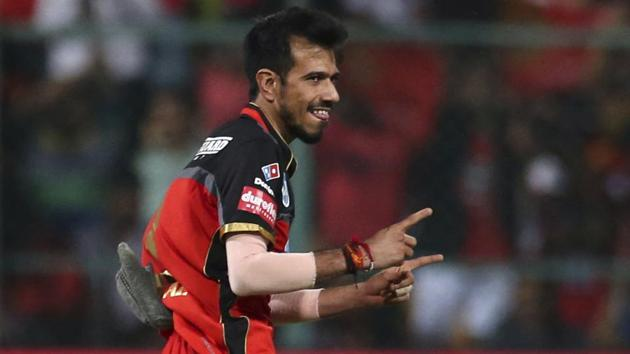 Royal Challengers Bangalore's Yuzvendra Chahal has taken seven wickets so far in IPL 2018.(AP)