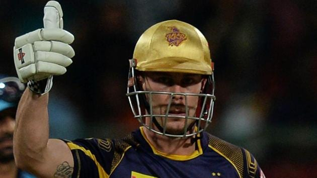Kolkata Knight Riders opener Chris Lynn guided his team to victory over Royal Challengers Bangalore with an unbeaten knock of 62.(AFP)