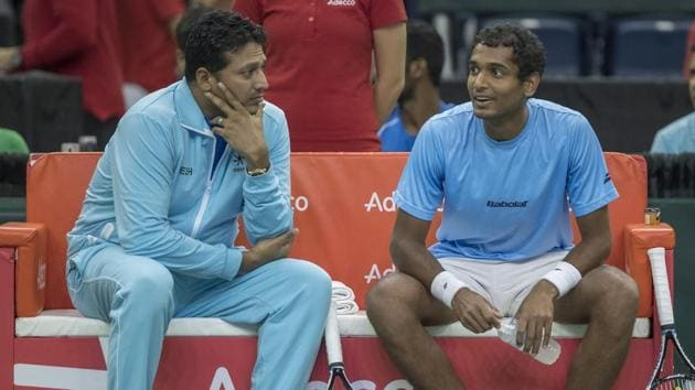India David Cup captain Mahesh Bhupathi (L) is not in favour of changing the tournament's home-away format.(USA Today Sports)