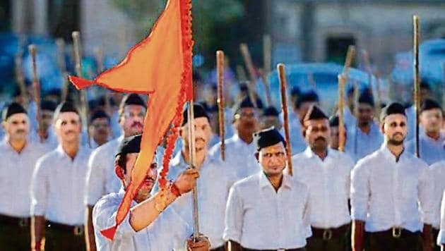 RSS observers say there was some churn within the Sangh brass and cadre on the outfit's core issues being put on the back burner for the sake of political expediency.(AFP File)
