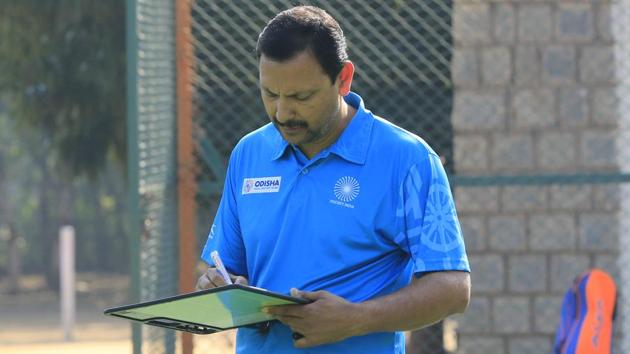 Harendra Singh, who led the Indian junior men's hockey team to the World Cup title in 2016, was appointed as the chief coach of the Indian women's team in September last year. He will now take over as the men's chief coach.(Hockey India)