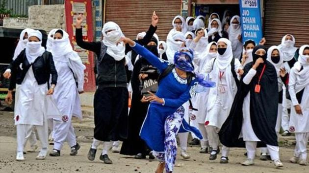 There has been a sharp increase in stone-pelting incidents across Kashmir since the summer of 2016.(PTI File)