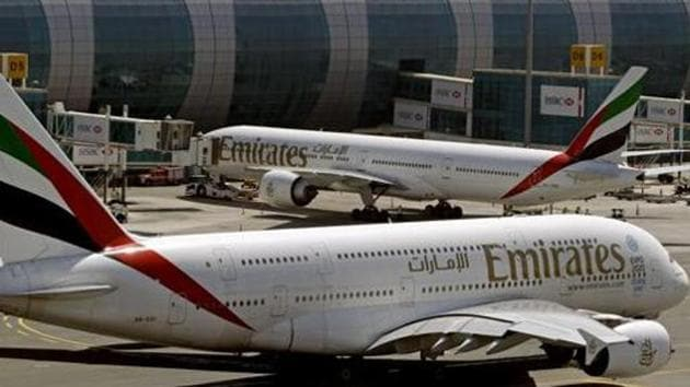 The Emirtaes cabin crew has been accused of asking siblings with nut allergy to sit in the loo. The airlines has denied any mention of the allegy in the booking records.(AP file photo)