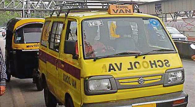 The commission had recommended action against the RTOs for their laxity on ensuring school van safety.(HT File Photo)