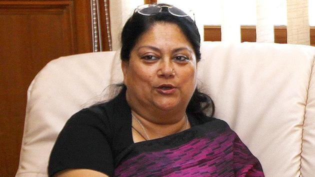 Rajasthan chief minister Vasundhara Raje gave the approval for D B Gupta's appointment as Chief Secretary late Monday night.(HT PHOTO)