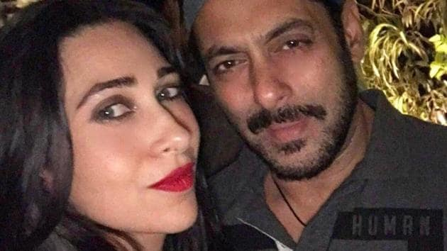 Karisma Kapoor and Salman Khan have worked in movies like Biwi No.1 and Judwaa.(Instagram)