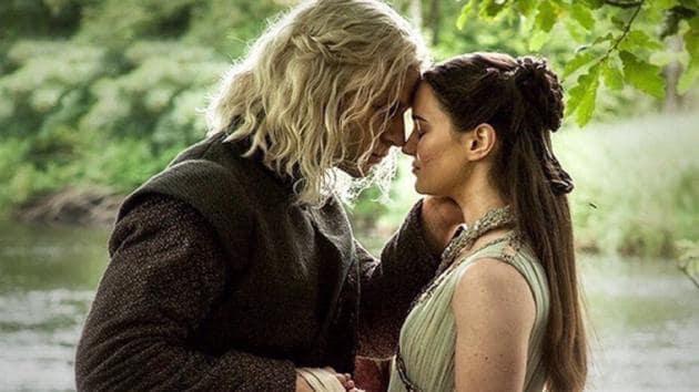 Wilf Scolding and Aisling Franciosi played Rhaegar Targaryen and Lyanna Stark on Game of Thrones.(HBO)