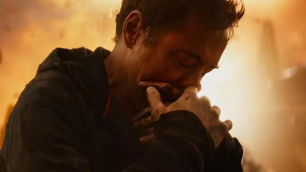Robert Downey Jr as Tony Stark in Avengers: Infinity War.