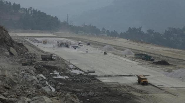 The new airport is coming up at Pakyong, about 35km from Sikkim's capital Gangtok.(I&PR department, Sikkim)