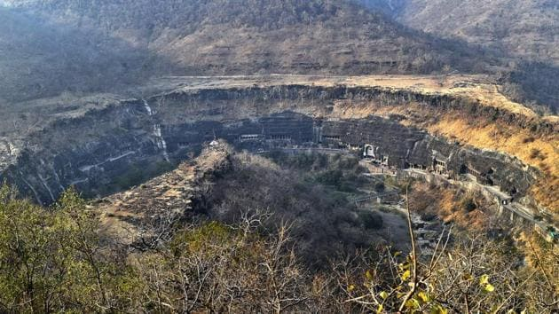 The Ajanta Caves are a Unesco World Heritage Site and has 29 caves.(Ajay Aggarwal/HT PHOTO)