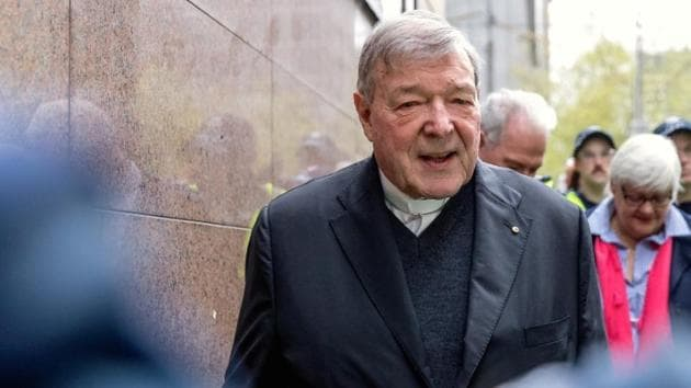 Under his bail conditions, George Pell (pictured) cannot leave Australia, contact prosecution witnesses and must give police a 24-hour notice of any change of address.(Reuters/File Photo)