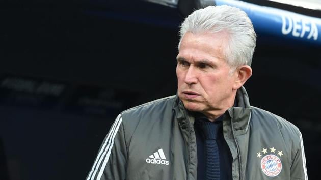 Bayern Munich's German head coach Jupp Heynckes reacts during the UEFA Champions League semi-final second-leg football match against Real Madrid in Madrid, Spain, on Tuesday.(AFP)