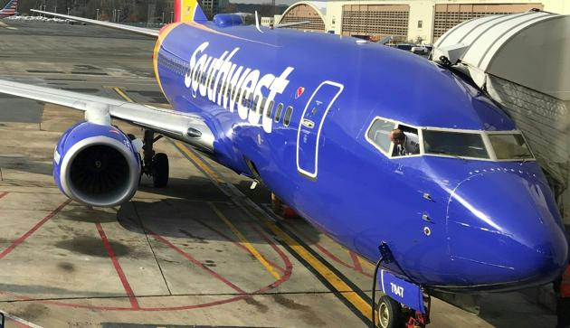 A cracked window forced a Southwest Airlines passenger jet bound from Chicago to Newark to divert on May 2, 2018, two weeks after a midair engine explosion shattered a window on another of the company's Boeing 737s.(AFP File Photo)
