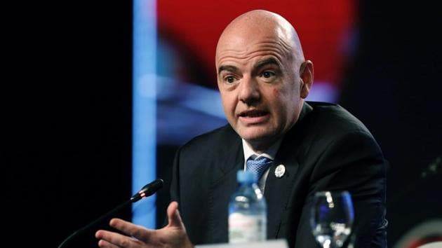 Gianni Infantino took over as FIFA president after Sepp Blatter was removed after a corruption scandal.(AP)