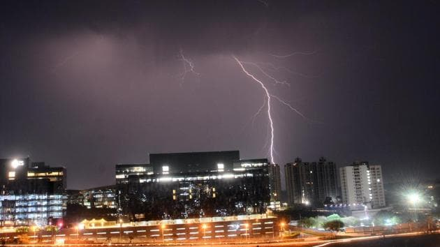 The Andhra Pradesh disaster management department said there had been 41,025 lightening strikes in the state over in the past week.(Shankar Narayan/HT File Photo)