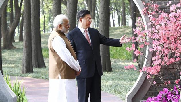"""In Wuhan, PM Modi and Chinese president Xi Jinping had agreed to issue """"strategic guidance to their militaries to strengthen communication to build trust and mutual understanding"""".(AP/File Photo)"""