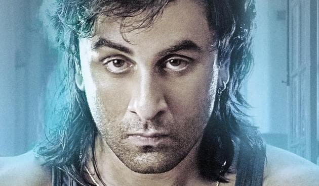 Ranbir Kapoor as Sanjay Dutt from the '90s in a new poster from Sanju.