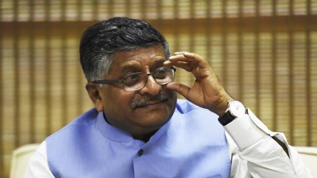 Union law minister Ravi Shankar Prasad said the Union Cabinet approved an ordinance to amend the Commercial Courts, Commercial Division and Commercial Appellate Division of High Courts Act.(Sonu Mehta/HT File Photo)