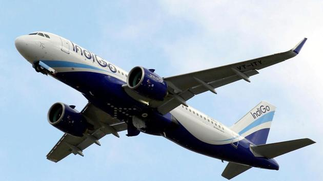 FILE PHOTO: An IndiGo Airlines Airbus A320 aircraft takes off in Colomiers near Toulouse, France, October 19, 2017. REUTERS/Regis Duvignau/File Photo(REUTERS File Photo)