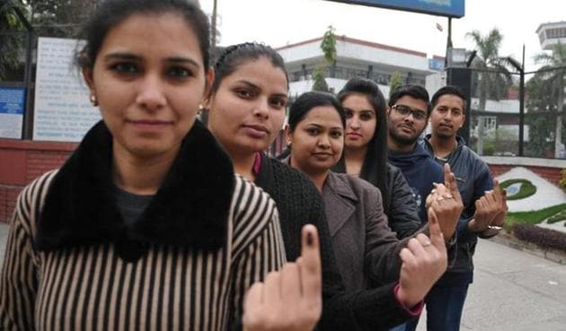 Only 12 lakh of the state's youngsters between 18-19 years have registered, against a population of arou41 lakh.(HT File Photo)