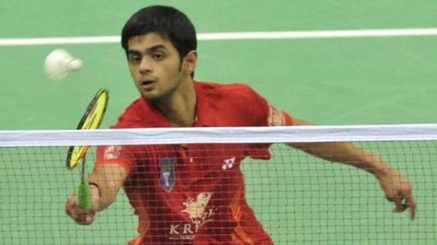 Indian badminton player B Sai Praneeth has advanced in the New Zealand Open on Thursday.(HT Photo)