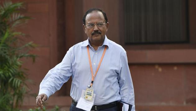 National security adviser Ajit Kumar Doval heads the newly constituted overarching Defence Planning Committee (DPC).(Vipin Kumar/HT File Photo)