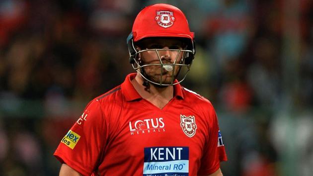 Kings XI Punjab batsman Aaron Finch has been struggling for runs in the Indian Premier League this season.(AFP)
