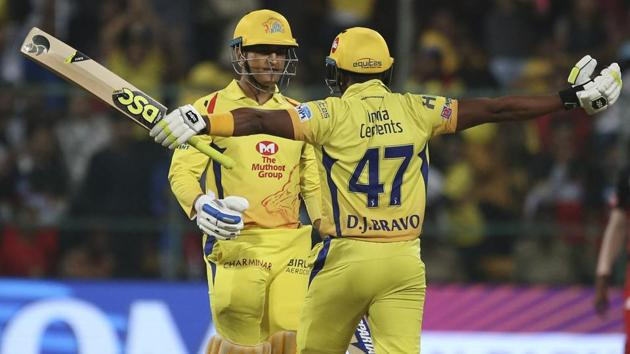 Dwayne Bravo (R) and MS Dhoni have been vital cogs in the Chennai Super Kings side in the IPL 2018.(AP)