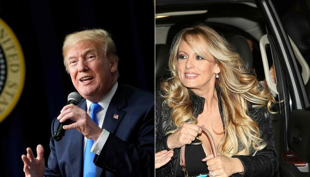 """President Donald Trump said his """"reimbursement"""" as part of a hush agreement with porn star Stormy Daniels over allegations of a decade-old affair did not include Trump campaign money.(AFP)"""