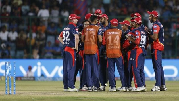 Delhi Daredevils clinched a thriller against Rajasthan Royals in IPL 2018 at the Ferozeshah Kotla in New Delhi on Wednesday night. Get highlights of Delhi Daredevils (DD) vs Rajasthan Royals (RR), Indian Premier League (IPL) 2018 here.(AP)