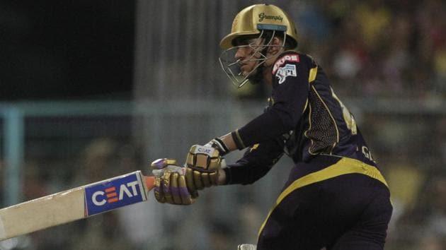 Kolkata Knight Riders' Shubman Gill bats during the IPL 2018 match against Chennai Super Kings in Kolkata, India, Thursday.(AP)