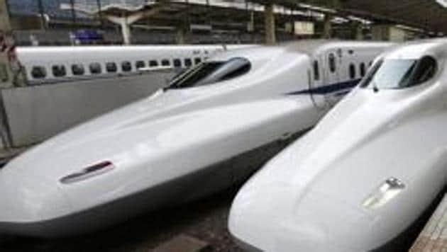 A file photo of the Shinkansen bullet train at Tokyo station.(AP)