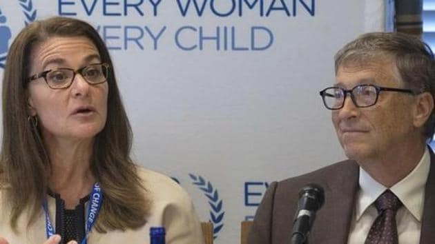 Melinda Gates and her husband Microsoft co-founder Bill Gates, co-founders of Bill & Melinda Gates Foundation, attend an United Nations' Every Woman, Every Child news conference in New York.(Reuters File Photo)