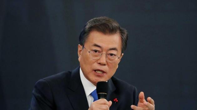 File photo of South Korean President Moon Jae-in.(AP photo)