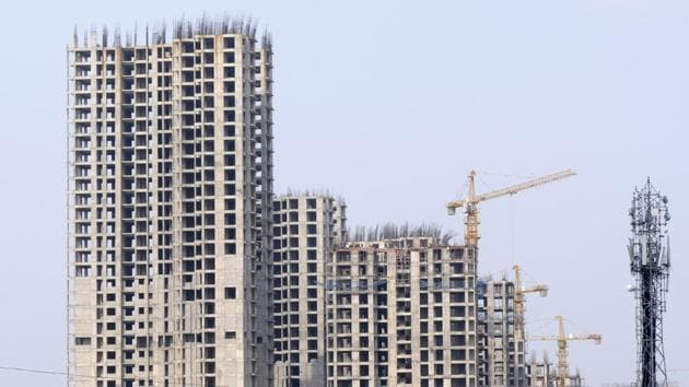 Jaypee Infratech is developing about 32,000 flats in Noida and Greater Noida region and out of that it has delivered 9,500 apartments(Sunil Ghosh / Hindustan Times)