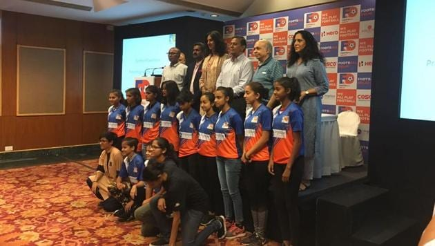 Junior football players from Delhi were selected for the Centre of Excellence project by Football Delhi on Friday.(HT Photo)