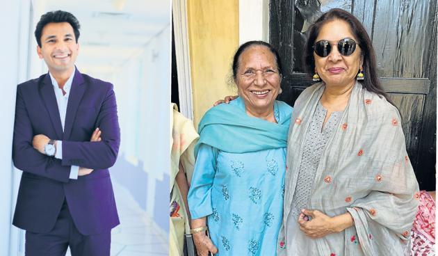 (LtoR) Vikas Khanna, Bindu Khanna and Neena Gupta.