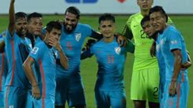 The Indian football team will play the 2019 AFC Asian Cup in the United Arab Emirates.(AFP/Getty Images)