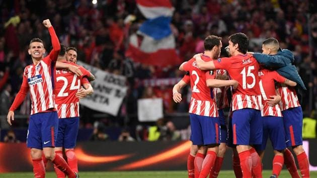 Atletico Madrid will play Marseille in the Europa League final in Lyon.(AFP)