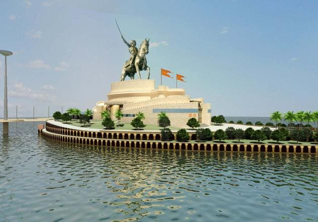The state's public works department submitted a proposal to increase the height of the statue to 210 metres.(HT file photo)