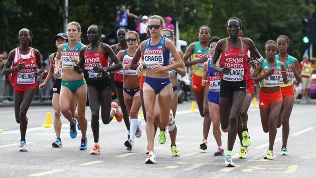 The IAAF will reschedule the marathon at the 2019 Doha worlds to midnight to tackle the heat.(Getty Images)