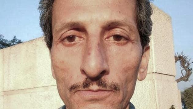 File photo of Vijay Singh who is accused of shooting dead officer Shail Bala Sharma in Kasauli.(PTI File Photo)